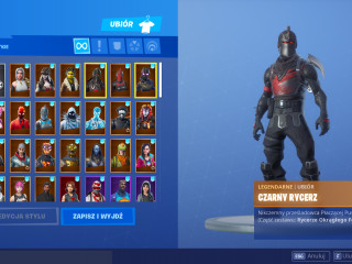 FORTNITE ACCOUNT 71purchased skins|33pickaxe purchased|40+EMOTE purchased 1030wins have black knight