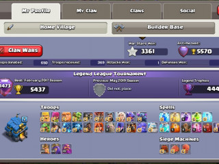 Clash Of Clans TH12 Heroes 60/60/30 FULL MAXED ACCOUNT SUPERCELL ID TOP ACCOUNT 5K Gems