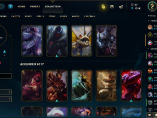 Account from 2009 with all champions and good skins and 131 000 BE
