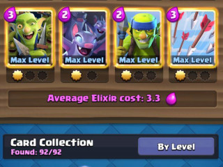 clash royale 13 lvl 27 cards max 20K gems