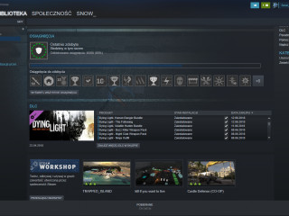 Steam account with dying light and almost all purchased DLC