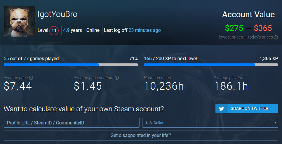 STEAM ACCOUNT 61 GAMES! WORTH MORE THAN 300USD