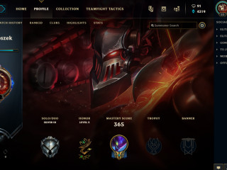 LEAGUE OF LEGENDS ACCOUNT 122champions/75skins