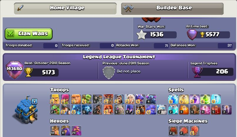 sell clash of clans towen12