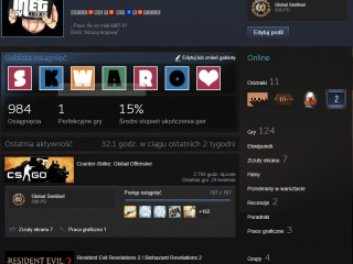 Steam acc 124 games and 18 lvl