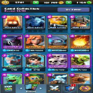 Clash royal account in your favorite LVL and details