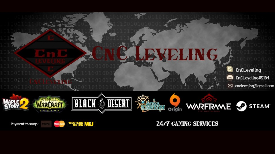 CnCLeveling the Secure and Affordable Leveling Service 100% HANDMADE