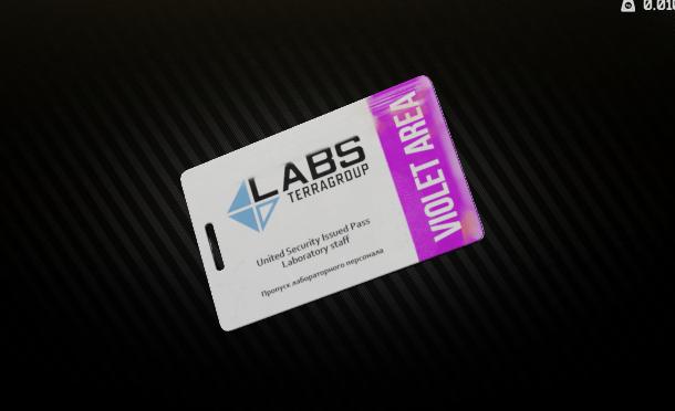 Lab. Violet Keycard (Security Post)