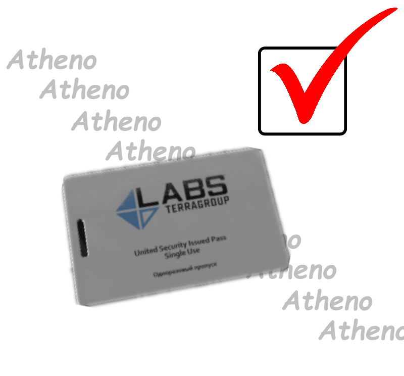 TerraGroup Labs access keycard 16x + Free Docs Case