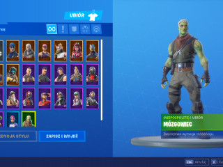 A unique account with zombie skin, saving the world, fourth season!