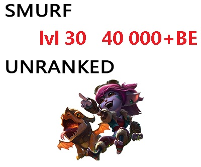 Smurf lvl 30+  9000-60000+BE Unranked unverified email,many accounts in stock