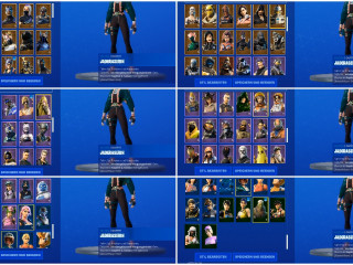 Fortnite account with almost all season pass skins from season 3 on