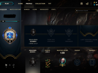 league of legends account level 54 with some good skins EUNE