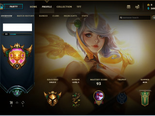 Gold 2 Euw Acc 52% wr || Lvl 51 || 15 Skins || Plat Season 9|| Email Changeable