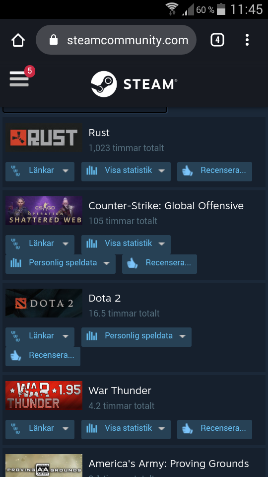 Selling my steam Account with RUST and CS