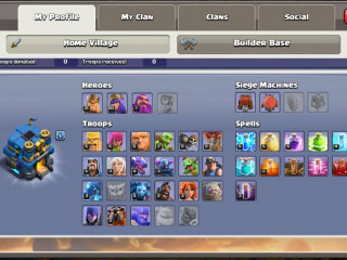 Level 108 , TH 12 , BH 4 , BK 19 , AK 17 , GW 7 - with supercell iD !