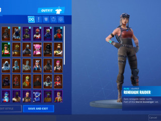 Semi stacked renegade fortnite account.