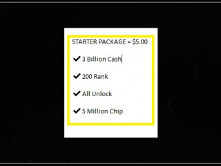 ✔️3 Billion Cash ✔️200 Rank ✔️All Unlock ✔️5 Million Chip