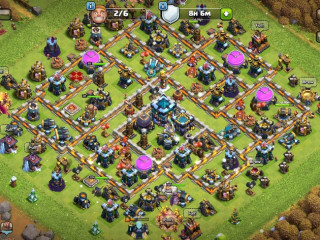 Clash of Clans SC ID-Th13////Level 215////Heroes(BK37/AQ61/GW50/RCH20)////Builder Hall 9 / Nice