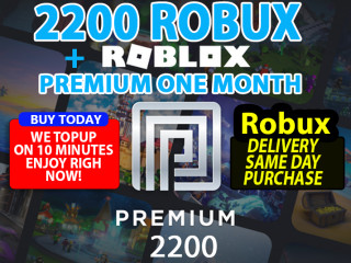 2200 ROBUX + ONE MONTH ROBLOX ACCOUNT